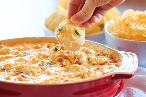 Warm and Cheesy Bacon Dip   Brown Eyed Baker
