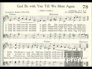 lyrics and music for hymn god be with you till we meet again