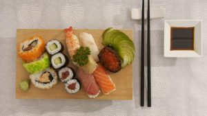 photo of a variety of sushi