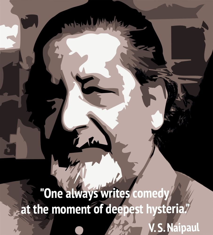 V.S. Naipaul Quote and Headshot