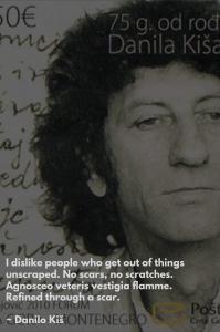 Danilo Kiš photo with quote