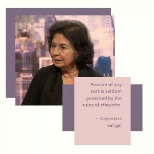 Nayantara Sahgal quote