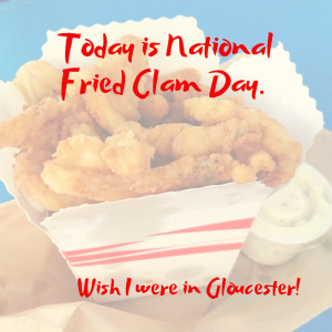 today is national fried clam day